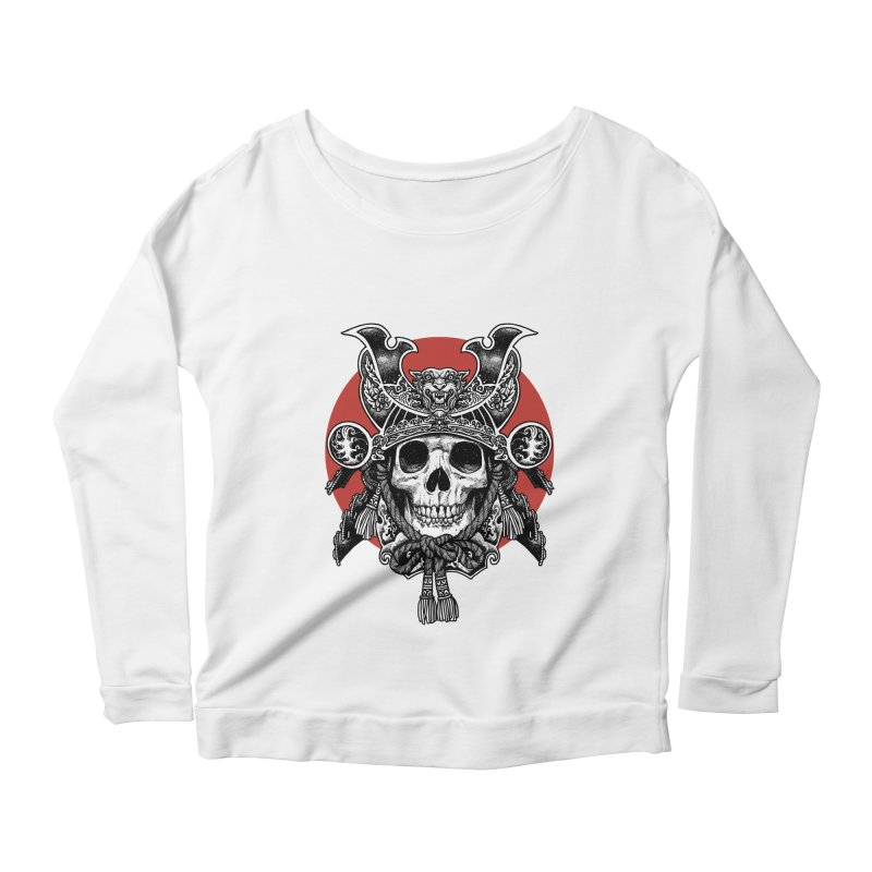 WARRIOR Women's Scoop Neck Longsleeve T-Shirt by ES427's Artist Shop