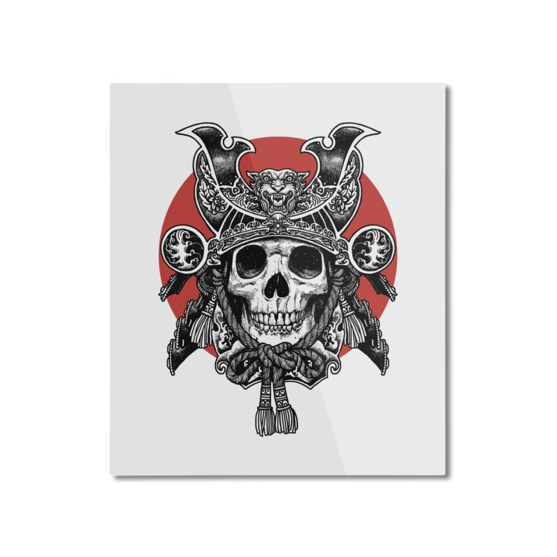 WARRIOR Home Mounted Aluminum Print by ES427's Artist Shop