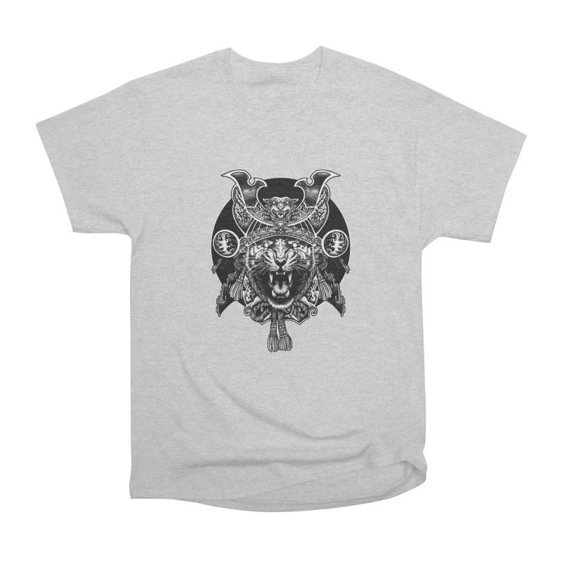 Tiger Samurai Men's Heavyweight T-Shirt by ES427's Artist Shop