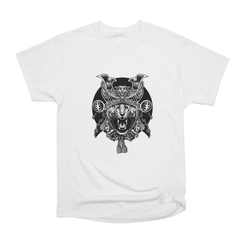 Tiger Samurai Women's Heavyweight Unisex T-Shirt by ES427's Artist Shop