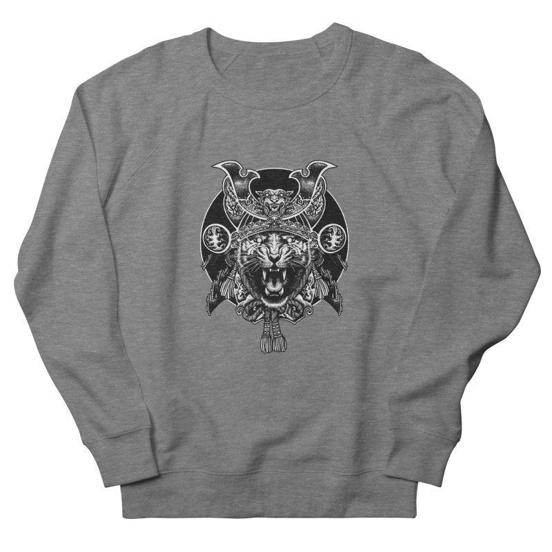 Tiger Samurai Men's French Terry Sweatshirt by ES427's Artist Shop