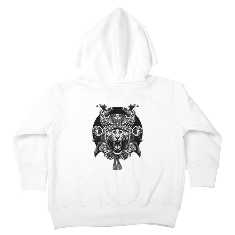 Tiger Samurai Kids Toddler Zip-Up Hoody by ES427's Artist Shop