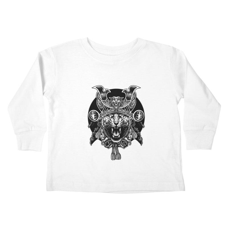 Tiger Samurai Kids Toddler Longsleeve T-Shirt by ES427's Artist Shop