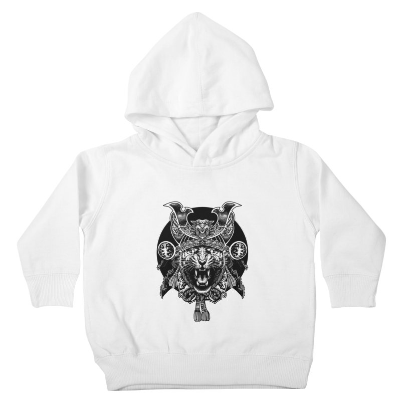 Tiger Samurai Kids Toddler Pullover Hoody by ES427's Artist Shop