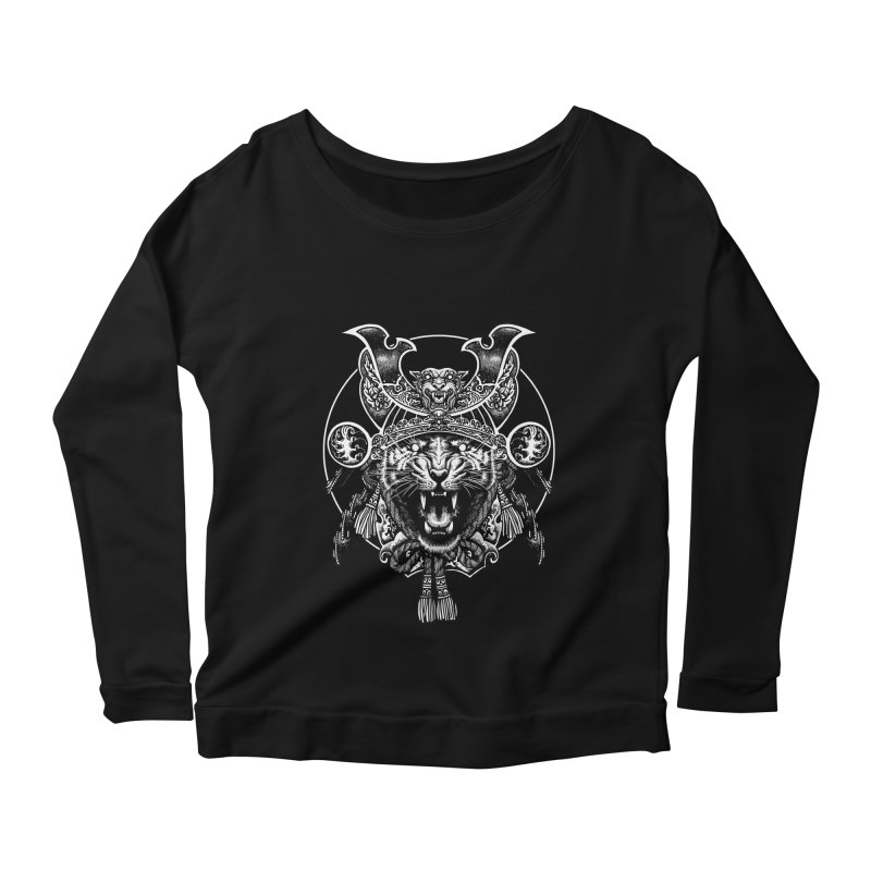 Tiger Samurai Women's Scoop Neck Longsleeve T-Shirt by ES427's Artist Shop