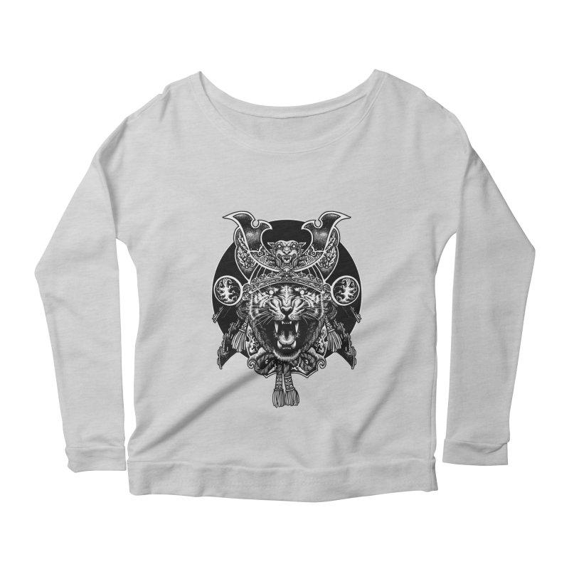 Tiger Samurai Women's Scoop Neck Longsleeve T-Shirt by ES427's Artist Shop