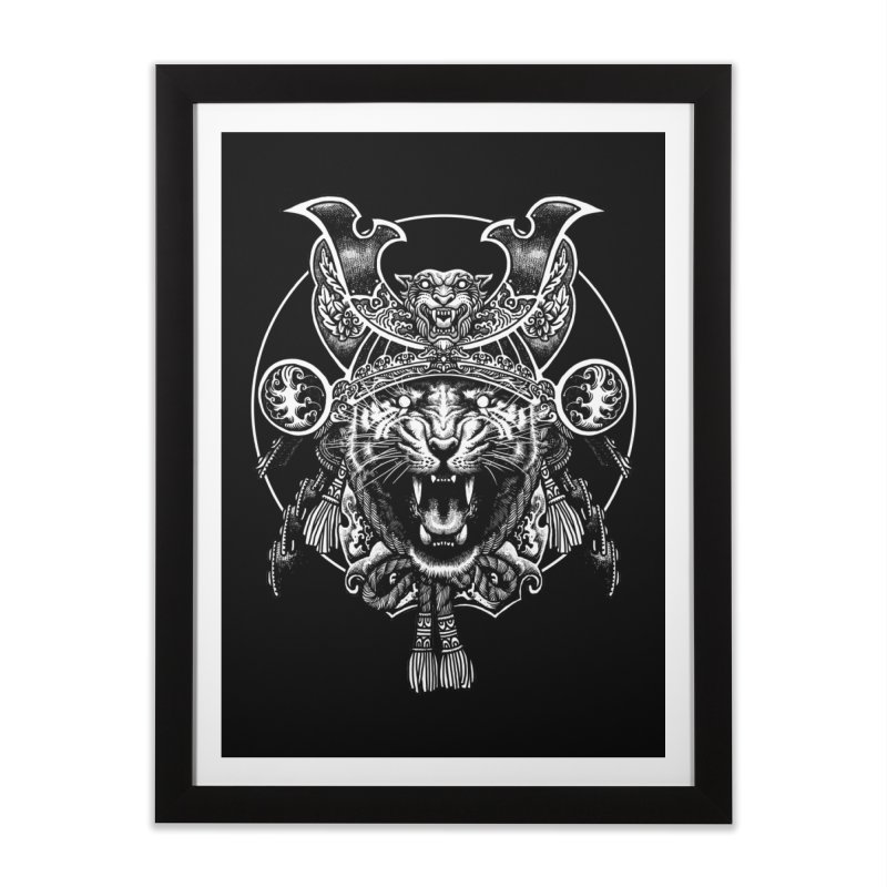 Tiger Samurai Home Framed Fine Art Print by ES427's Artist Shop