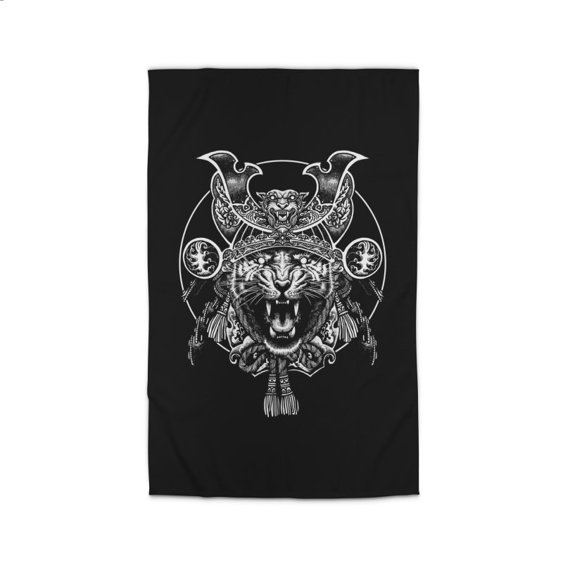 Tiger Samurai Home Rug by ES427's Artist Shop