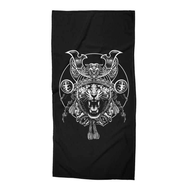 Tiger Samurai Accessories Beach Towel by ES427's Artist Shop