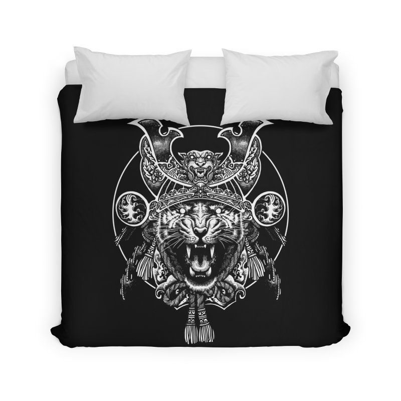 Tiger Samurai Home Duvet by ES427's Artist Shop