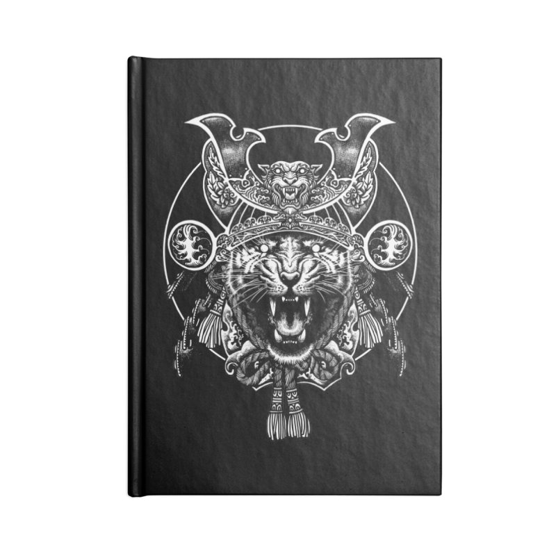 Tiger Samurai Accessories Blank Journal Notebook by ES427's Artist Shop
