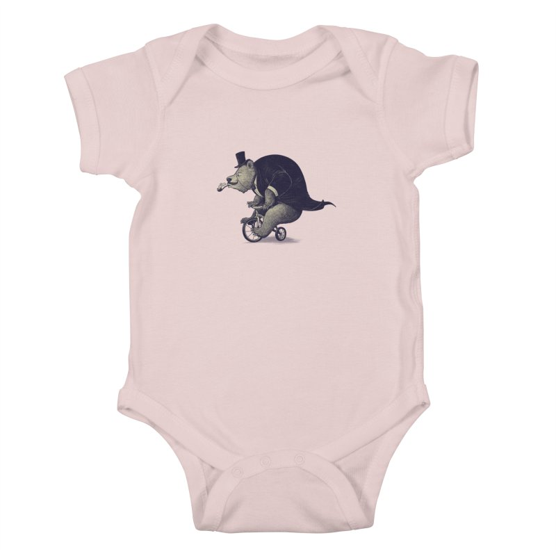Mr.Bear Kids Baby Bodysuit by ES427's Artist Shop