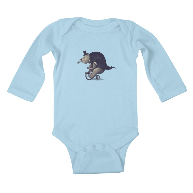Mr.Bear Kids Baby Longsleeve Bodysuit by ES427's Artist Shop