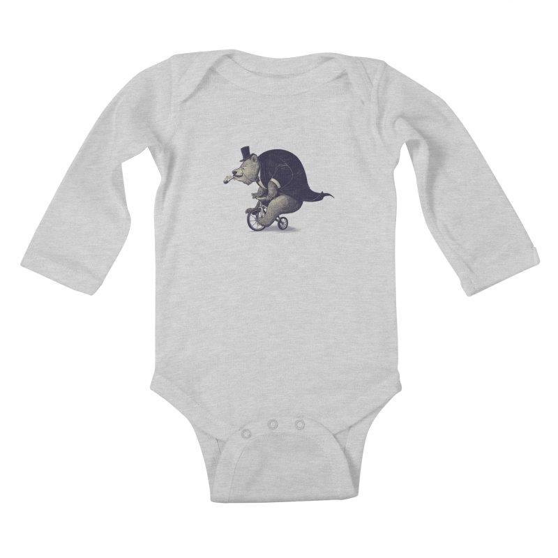 Mr.Bear Kids Baby Longsleeve Bodysuit by ES427's Artist Shop