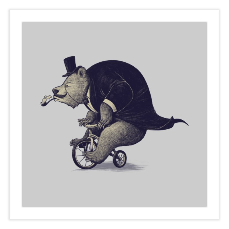 Mr.Bear Home Fine Art Print by ES427's Artist Shop