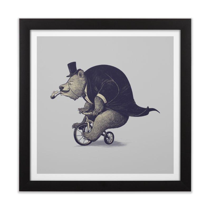 Mr.Bear Home Framed Fine Art Print by ES427's Artist Shop