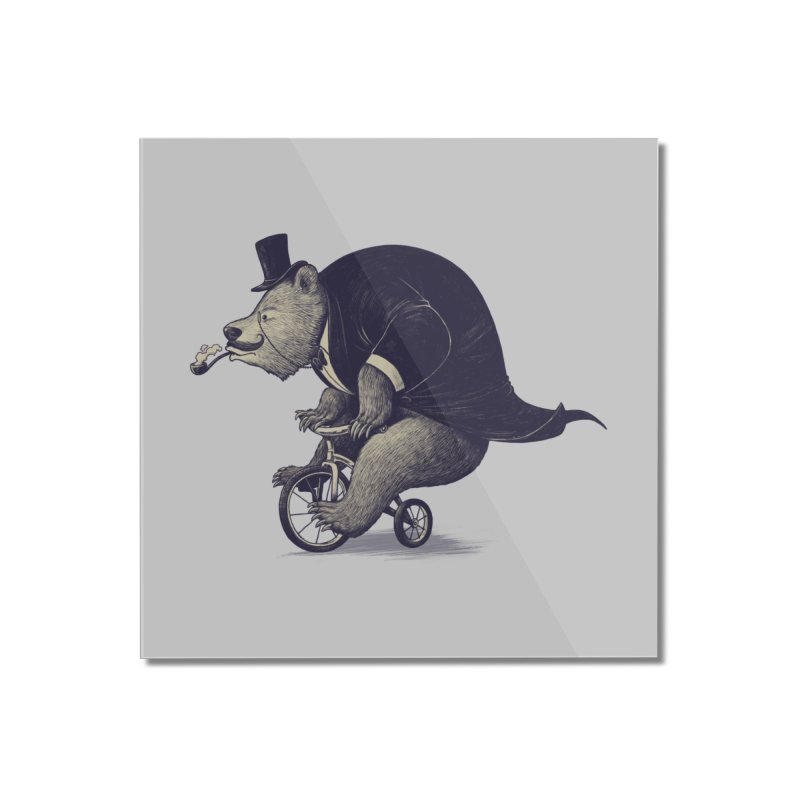 Mr.Bear Home Mounted Acrylic Print by ES427's Artist Shop