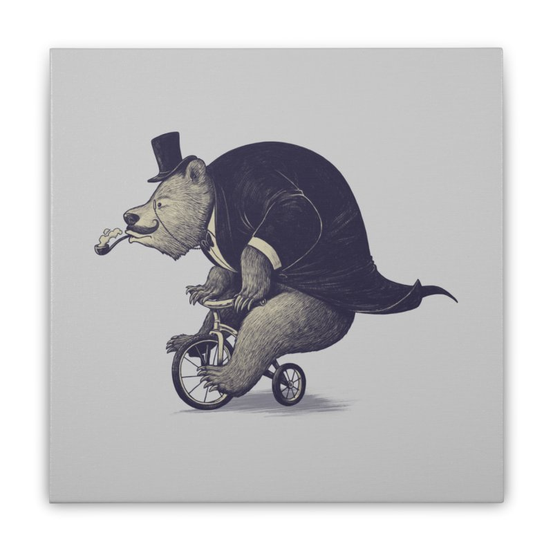 Mr.Bear Home Stretched Canvas by ES427's Artist Shop