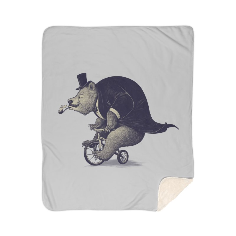 Mr.Bear Home Sherpa Blanket Blanket by ES427's Artist Shop