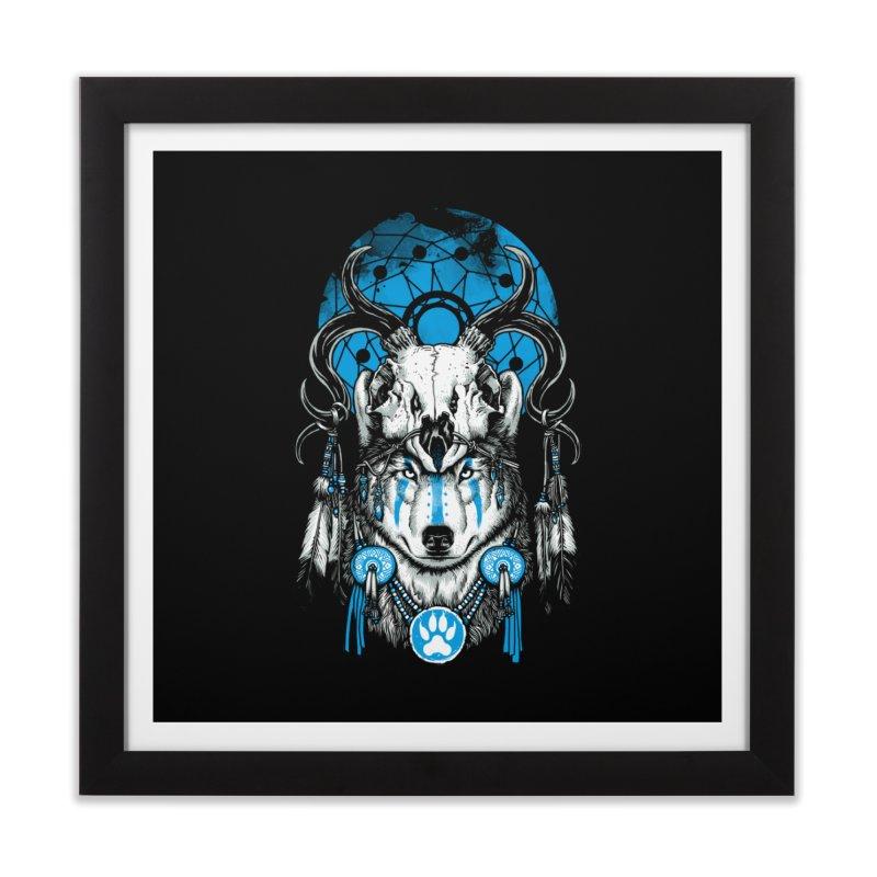 Wolf Spirit Home Framed Fine Art Print by ES427's Artist Shop