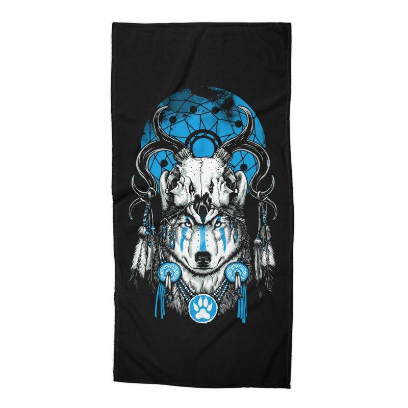 Wolf Spirit Accessories Beach Towel by ES427's Artist Shop