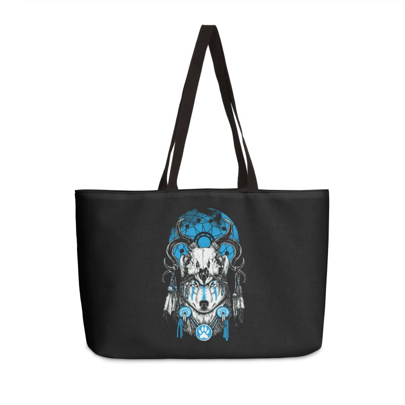 Wolf Spirit Accessories Weekender Bag Bag by ES427's Artist Shop