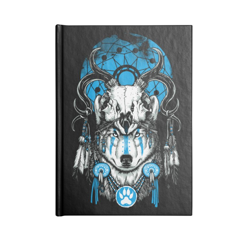 Wolf Spirit Accessories Blank Journal Notebook by ES427's Artist Shop