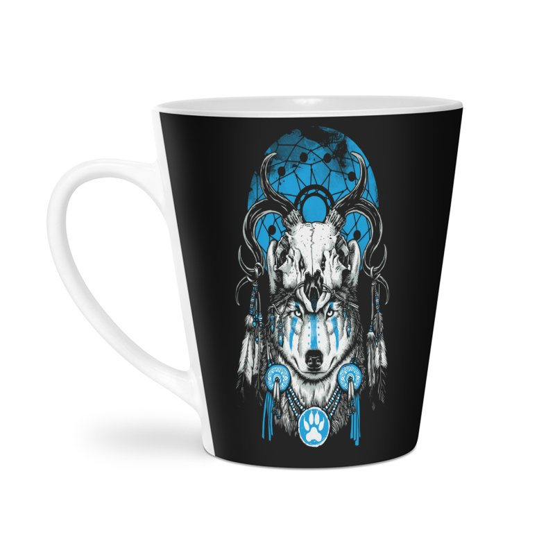 Wolf Spirit Accessories Latte Mug by ES427's Artist Shop
