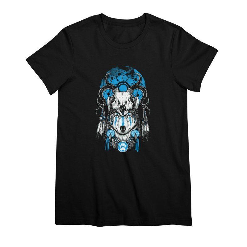 Wolf Spirit Women's Premium T-Shirt by ES427's Artist Shop