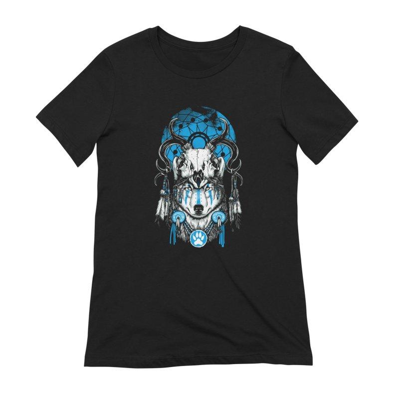 Wolf Spirit Women's Extra Soft T-Shirt by ES427's Artist Shop