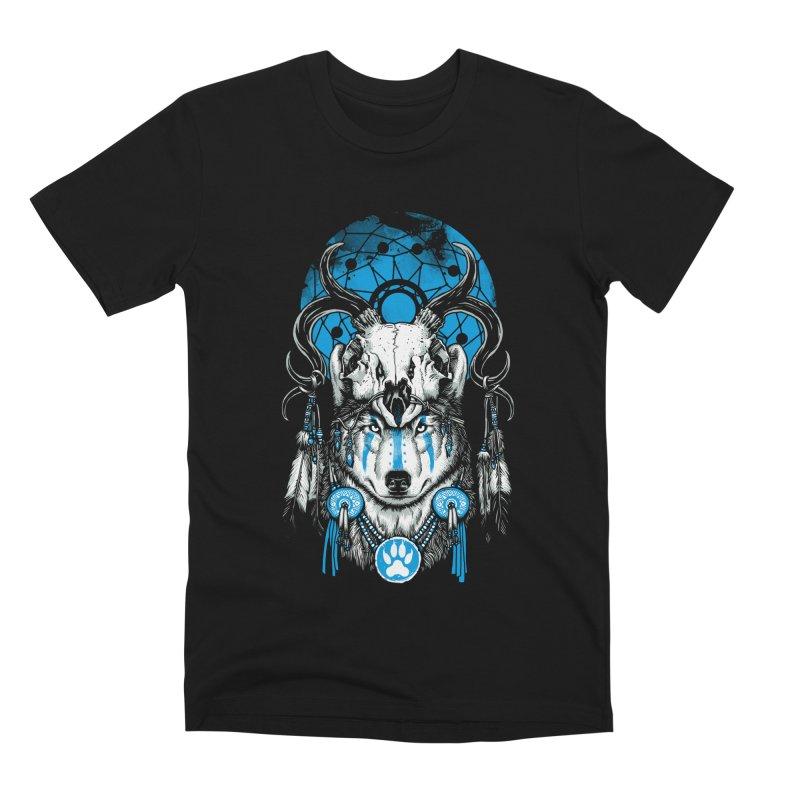 Wolf Spirit Men's Premium T-Shirt by ES427's Artist Shop