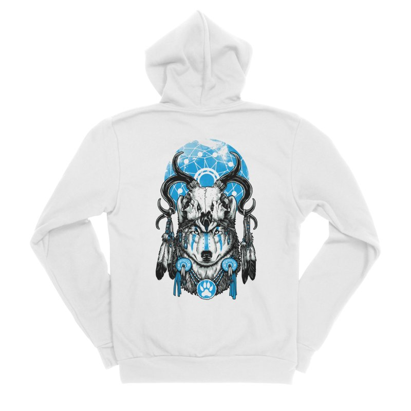 Wolf Spirit Women's Sponge Fleece Zip-Up Hoody by ES427's Artist Shop