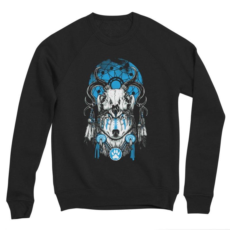 Wolf Spirit Men's Sponge Fleece Sweatshirt by ES427's Artist Shop