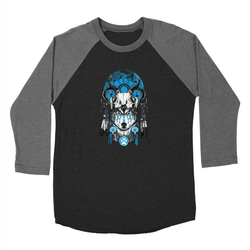 Wolf Spirit Women's Baseball Triblend Longsleeve T-Shirt by ES427's Artist Shop