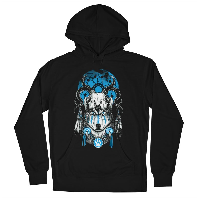 Wolf Spirit Men's French Terry Pullover Hoody by ES427's Artist Shop