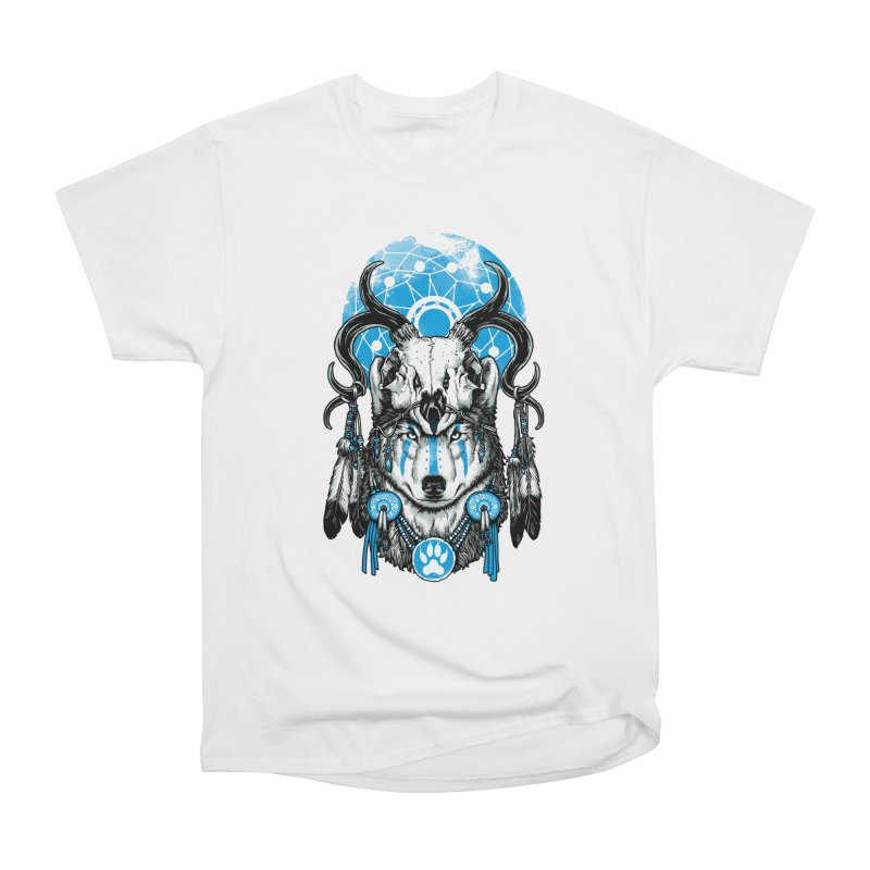 Wolf Spirit Men's Heavyweight T-Shirt by ES427's Artist Shop