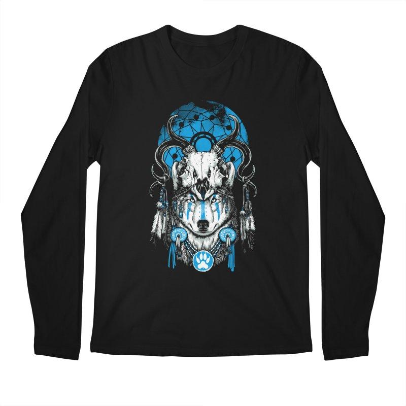 Wolf Spirit Men's Regular Longsleeve T-Shirt by ES427's Artist Shop