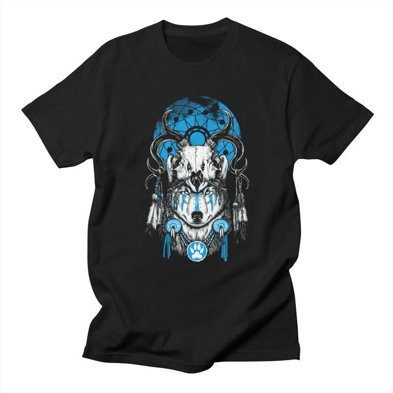 Wolf Spirit Men's Regular T-Shirt by ES427's Artist Shop