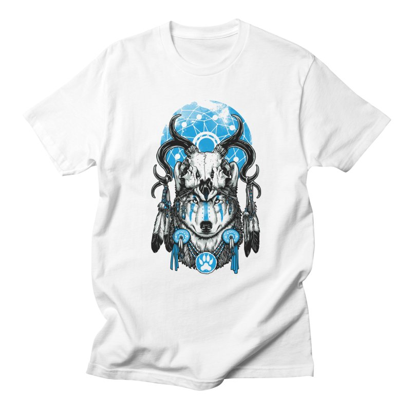 Wolf Spirit Men's Regular T-Shirt by ES427's Artist Shop