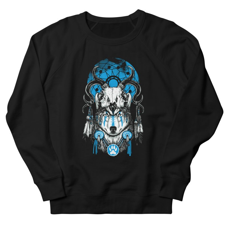 Wolf Spirit Men's French Terry Sweatshirt by ES427's Artist Shop