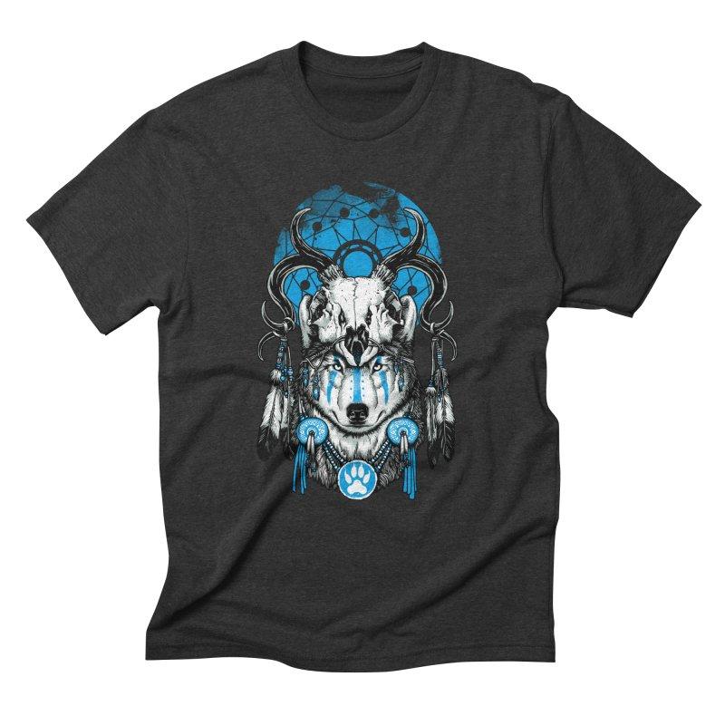 Wolf Spirit Men's Triblend T-Shirt by ES427's Artist Shop