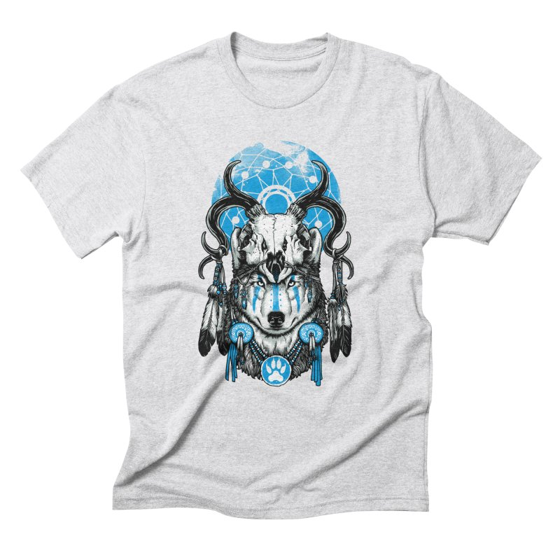 Wolf Spirit Men's Triblend T-Shirt by ES427's Artist Shop