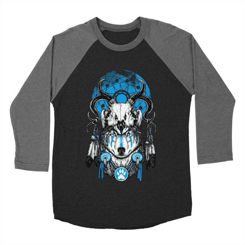 Wolf Spirit Men's Baseball Triblend Longsleeve T-Shirt by ES427's Artist Shop