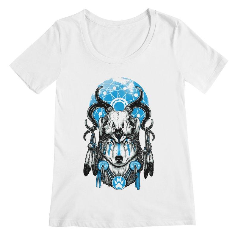Wolf Spirit Women's Regular Scoop Neck by ES427's Artist Shop