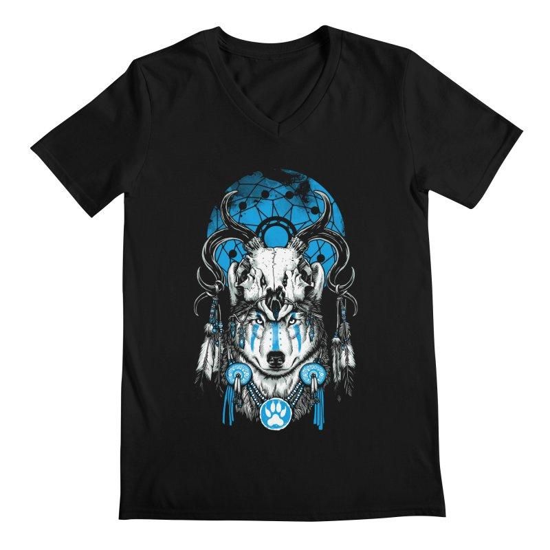 Wolf Spirit Men's Regular V-Neck by ES427's Artist Shop