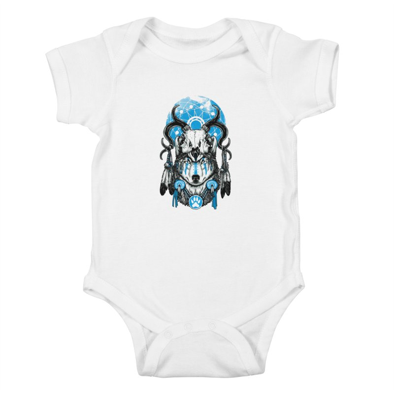 Wolf Spirit Kids Baby Bodysuit by ES427's Artist Shop
