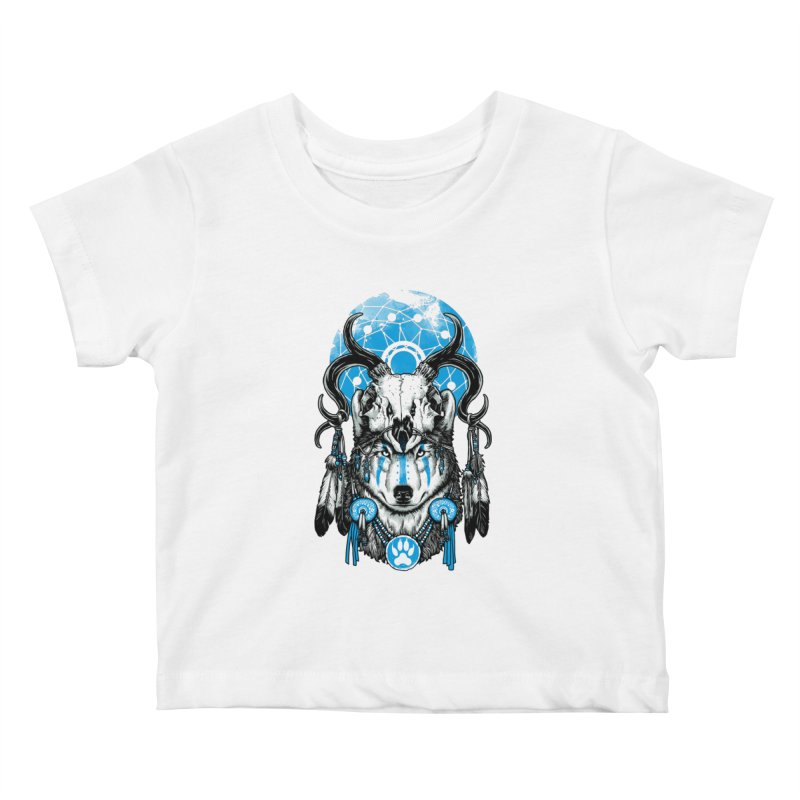 Wolf Spirit Kids Baby T-Shirt by ES427's Artist Shop