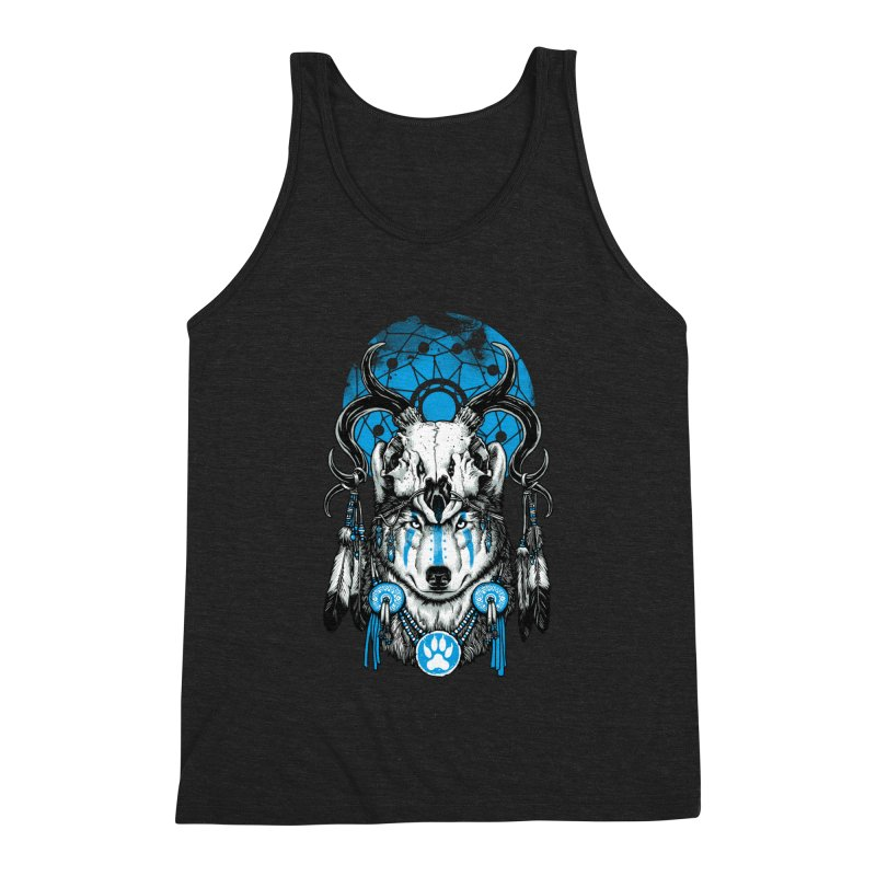Wolf Spirit Men's Triblend Tank by ES427's Artist Shop
