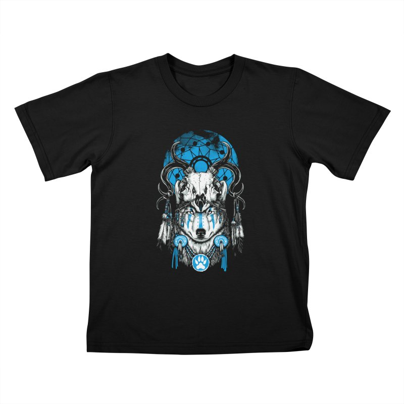Wolf Spirit Kids T-Shirt by ES427's Artist Shop