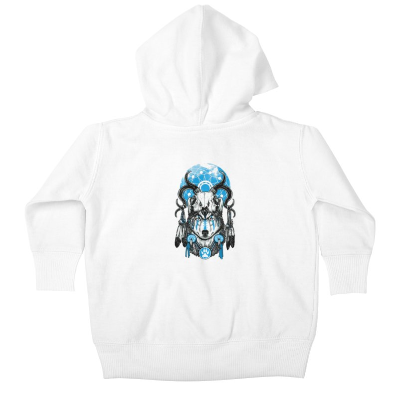 Wolf Spirit Kids Baby Zip-Up Hoody by ES427's Artist Shop